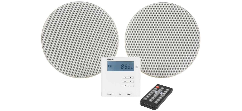 Adastra WA-210-SET, nástěnný MP3/BT zesilovač s podhledovými reproduktory