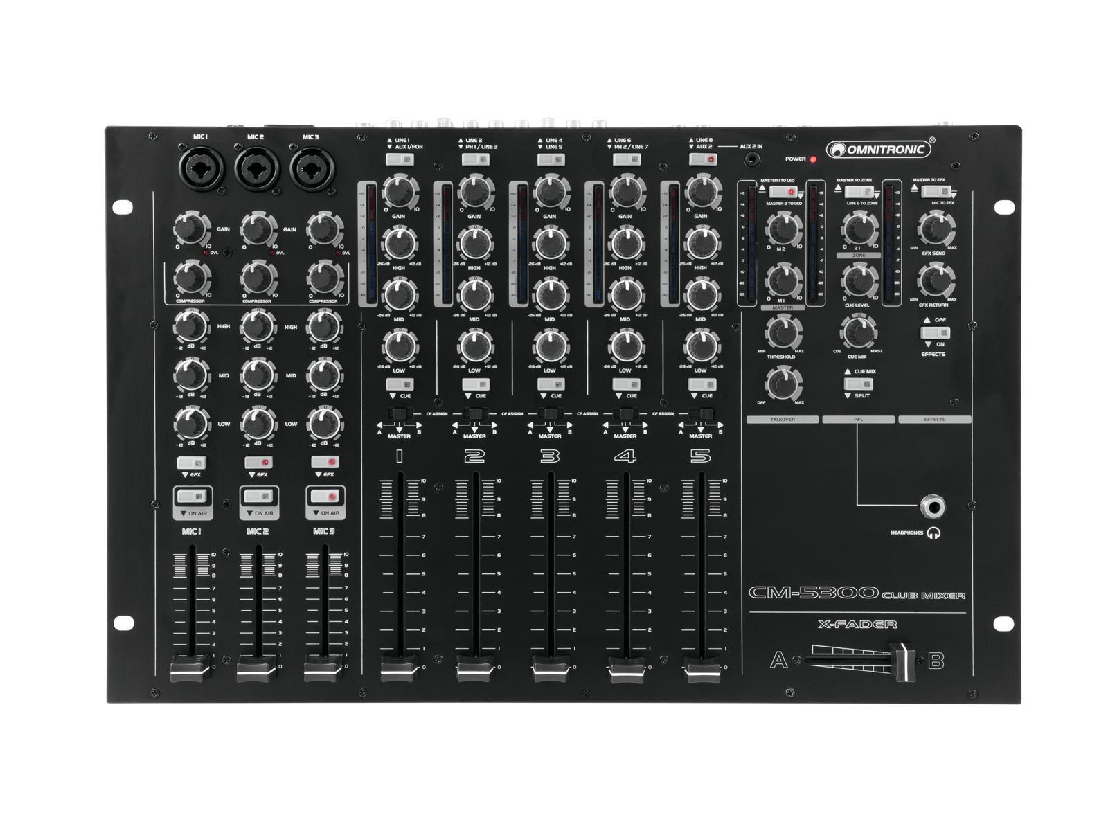 Omnitronic CM-5300, mixpult