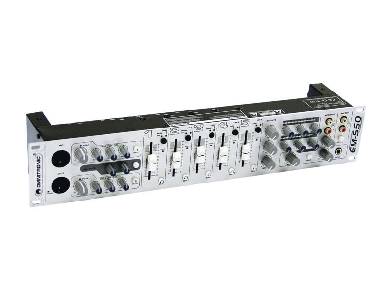 Omnitronic EM-550, 5- kanálový mixážní pult
