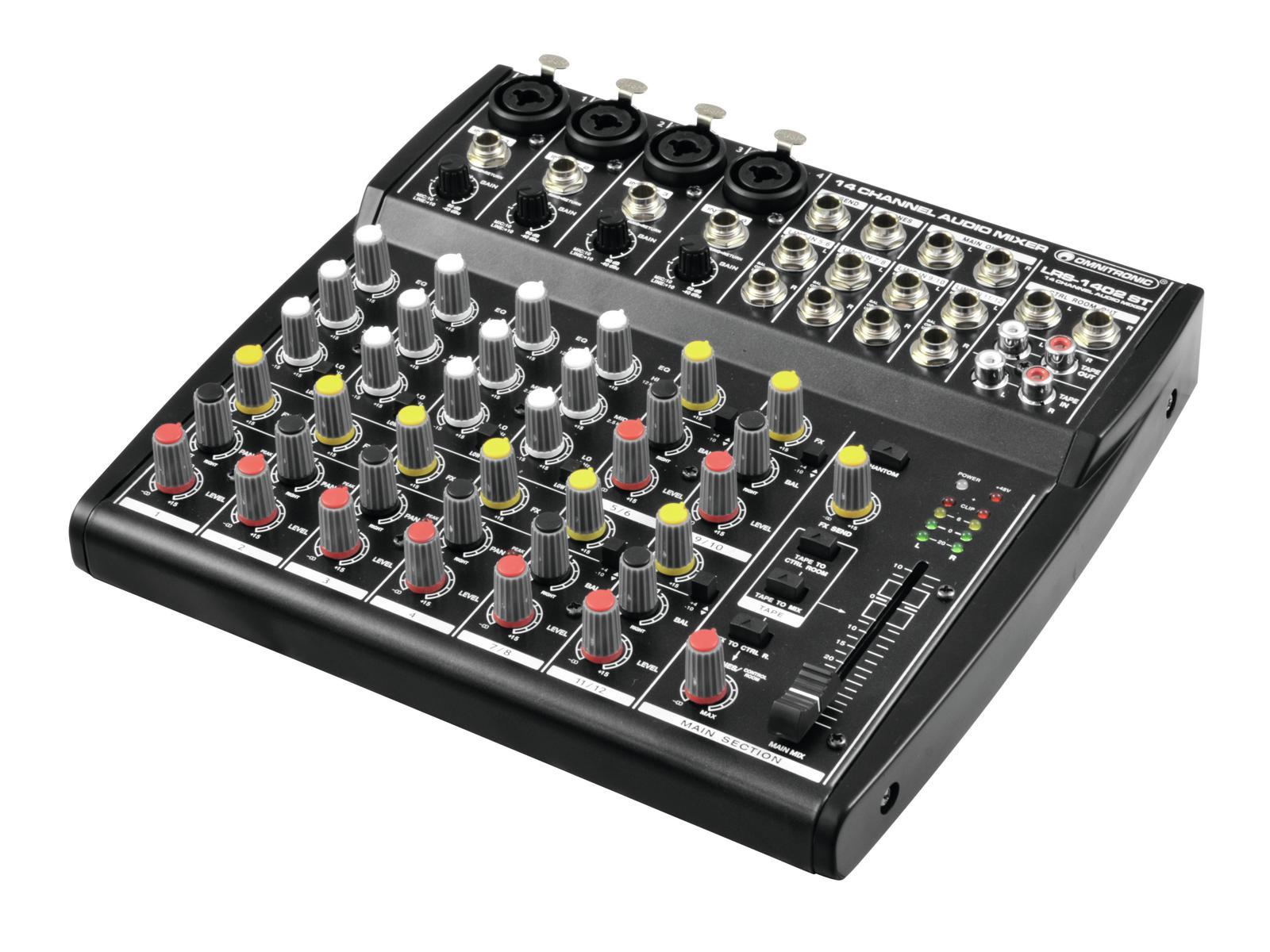 Omnitronic LRS-1402ST live rec. mixer