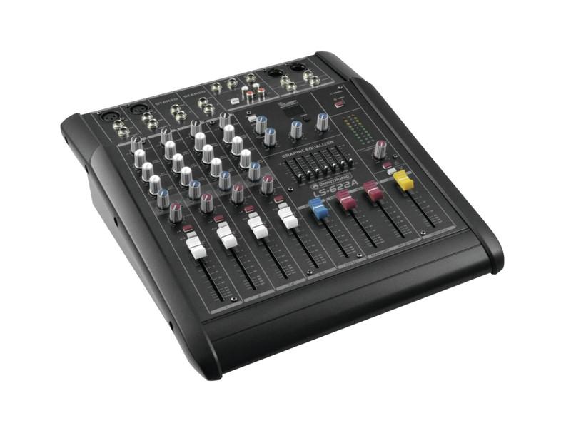 Omnitronic LS-622A, 6-kanálový aktivní mixážní pult