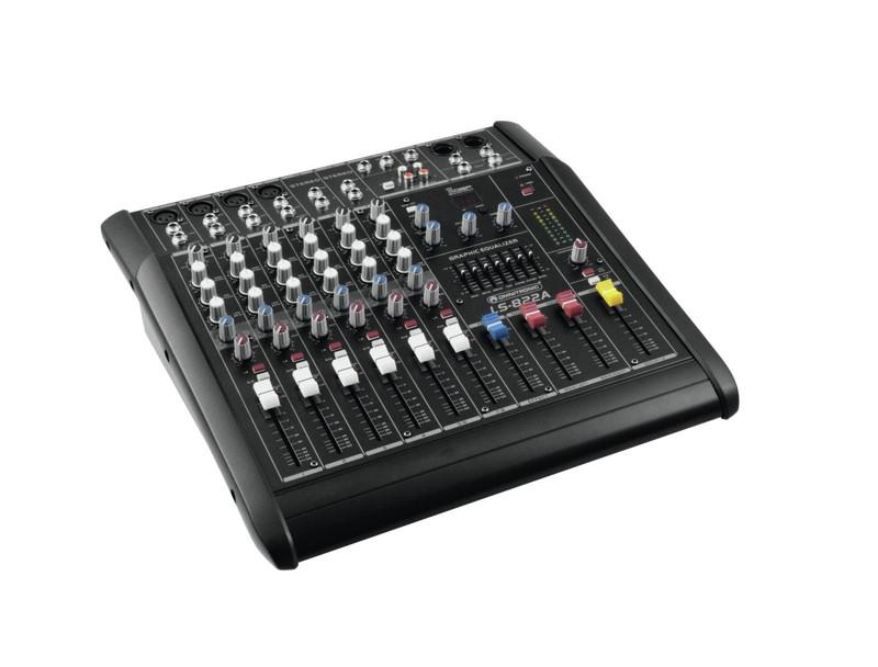 Omnitronic LS-822A, 8-kanálový aktivní mixážní pult