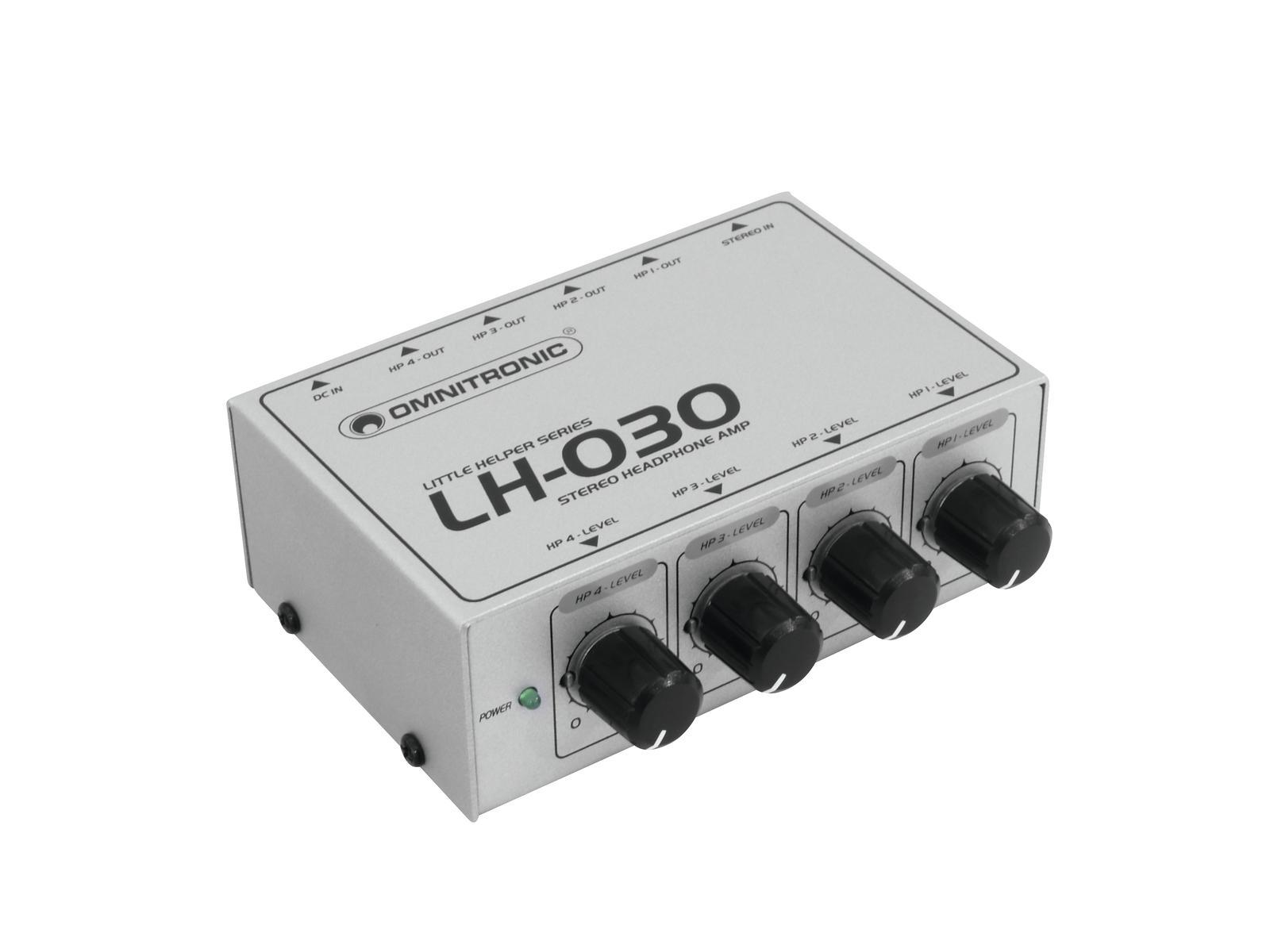 Omnitronic LH-030, sluchátkový předzesilovač
