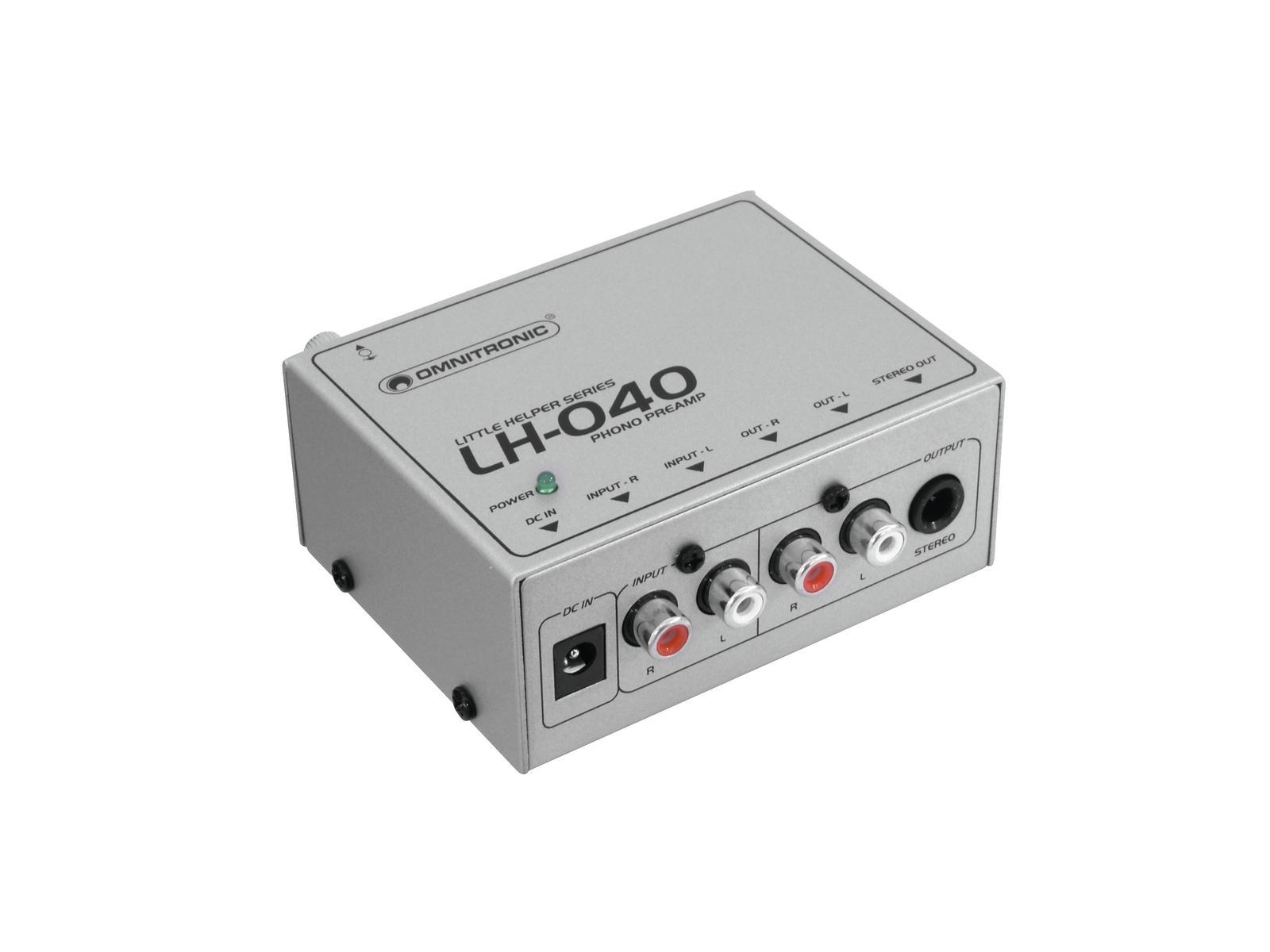 Omnitronic LH-040, gramofonní předzesilovač