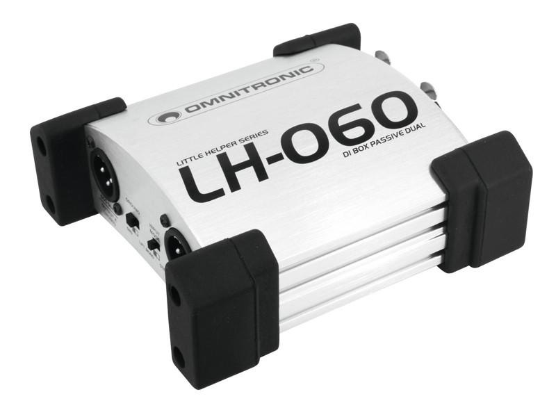 Omnitronic LH-060, pasivní DI-box dvojitý