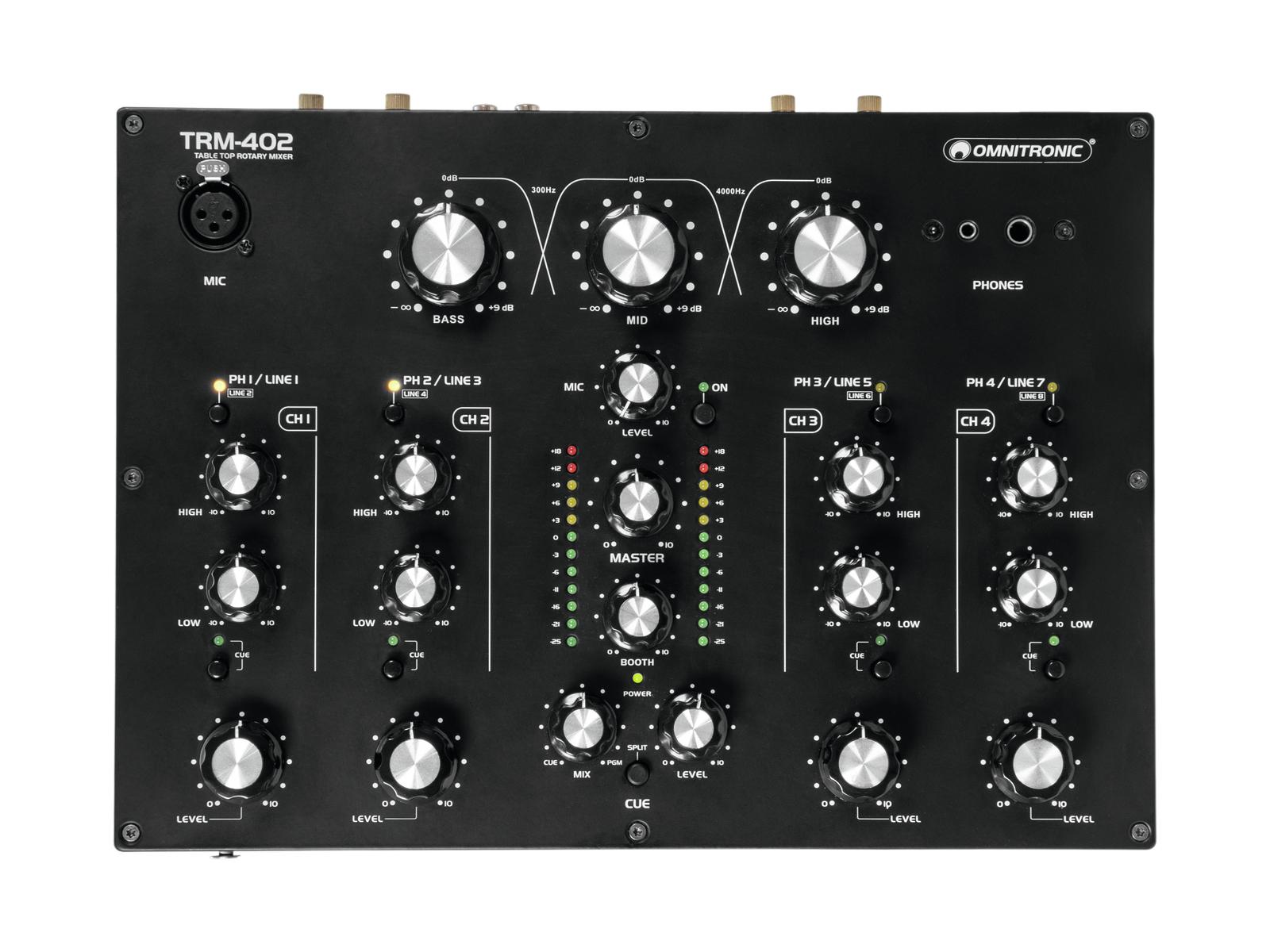 Omnitronic TRM-402, 4-kanálový mixážní pult