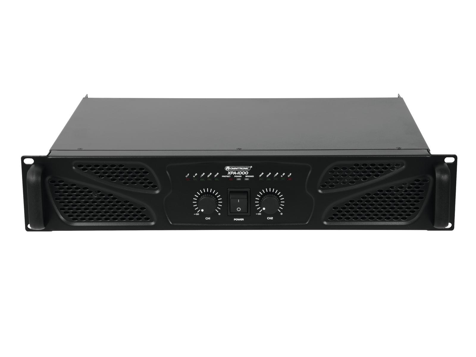 Omnitronic XPA-1000, zesilovač 2x 500W