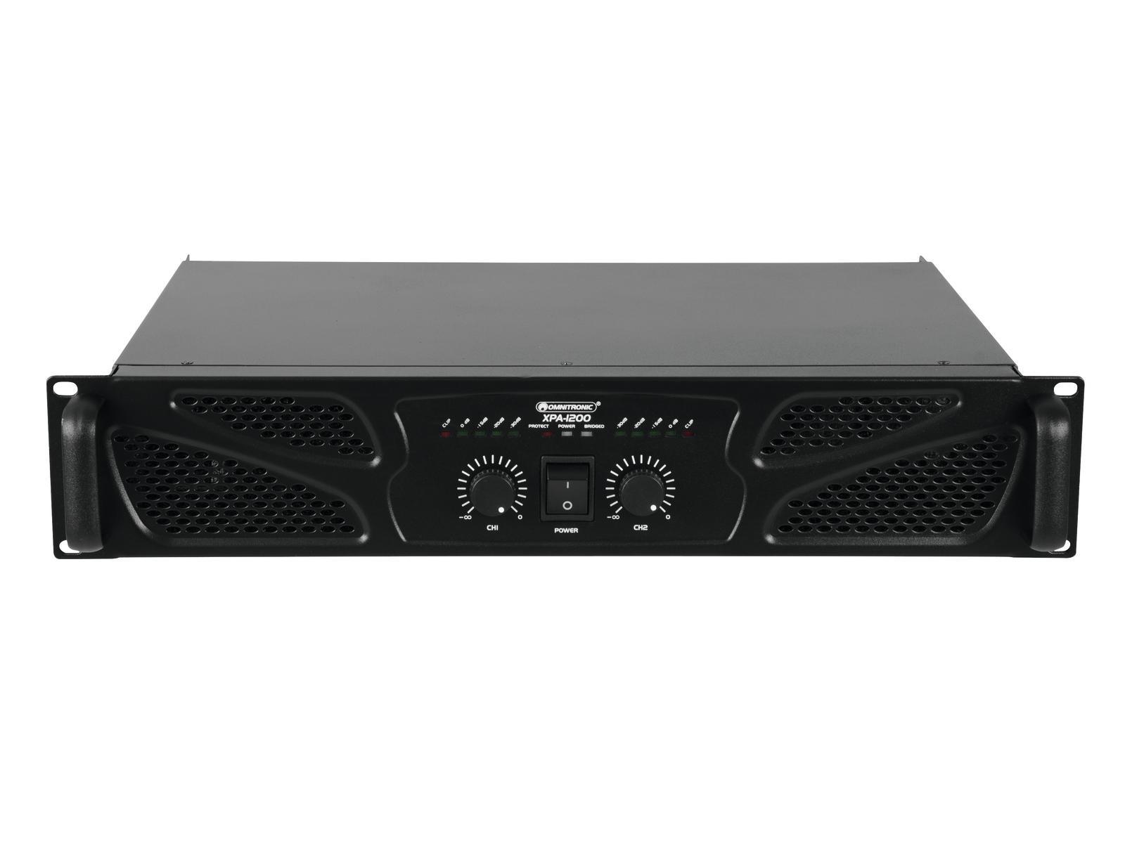 Omnitronic XPA-1200, zesilovač