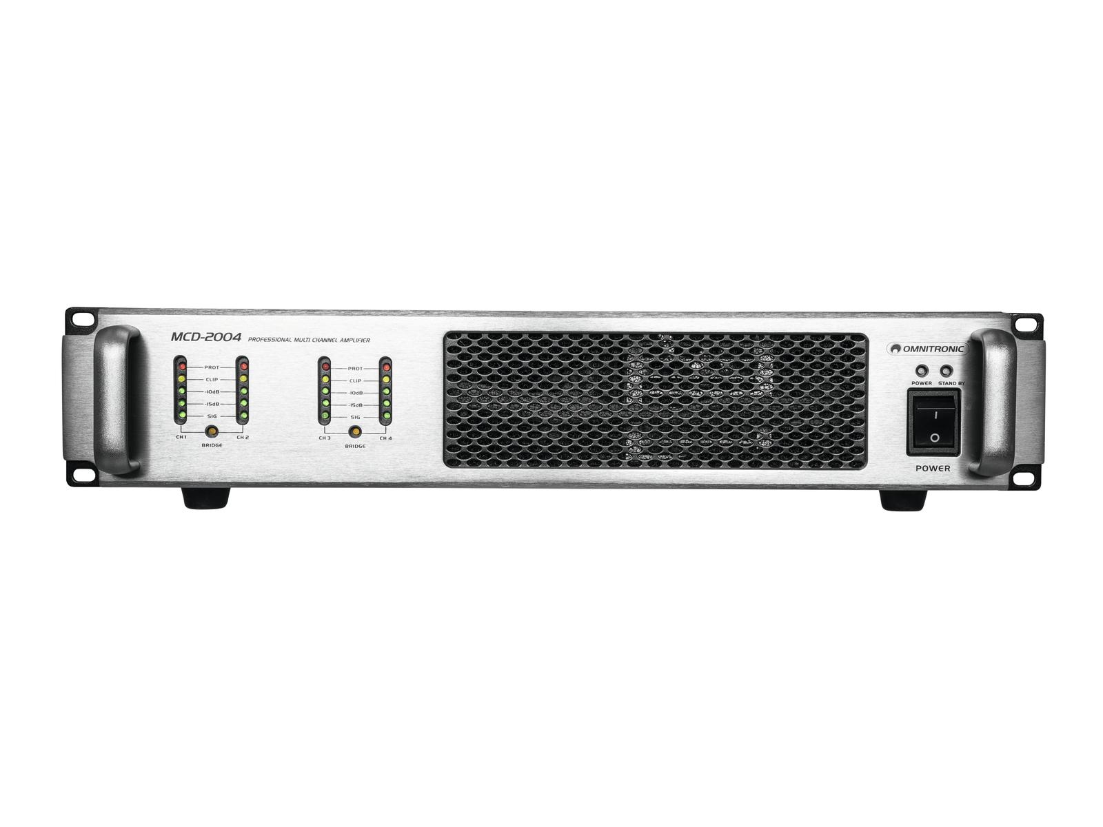 Omnitronic MCD-2004, 4-kanálový zesilovač 4x 500 W