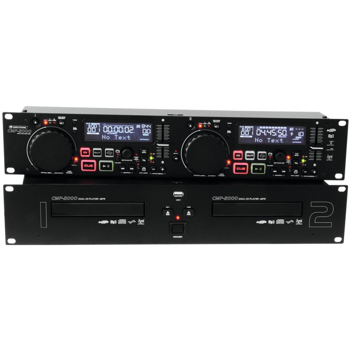 Omnitronic CMP-2000 Dual CD/MP3 přehrávač