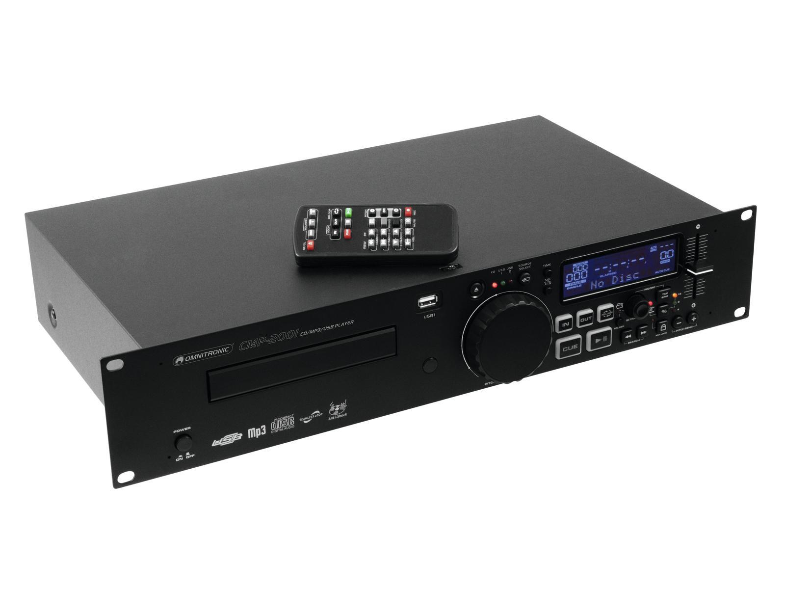 Omnitronic CMP-2001 Single CD/MP3/USB přehrávač