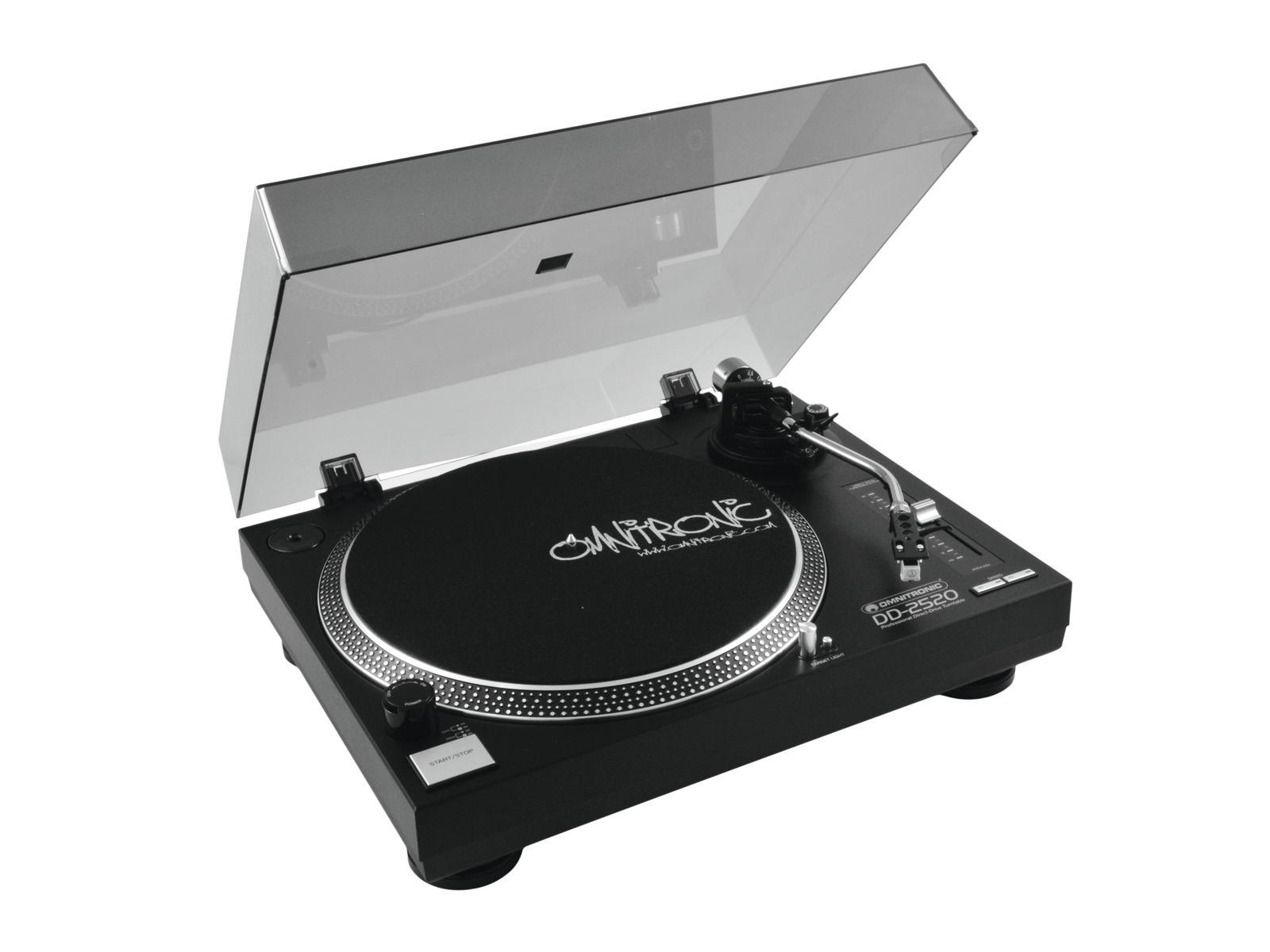Omnitronic DD-2520, gramofon s přímým pohonem-USB černý