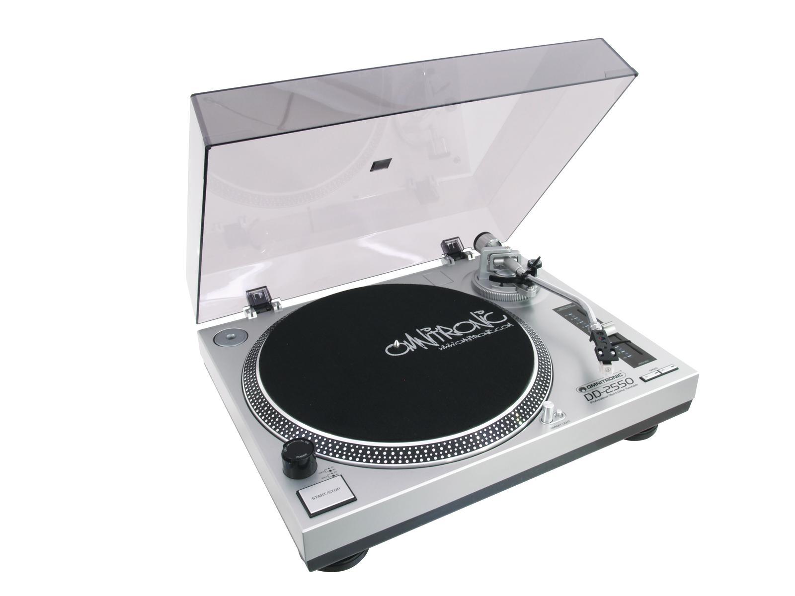Omnitronic DD-2550, gramofon s přímým pohonem-USB stříbrný