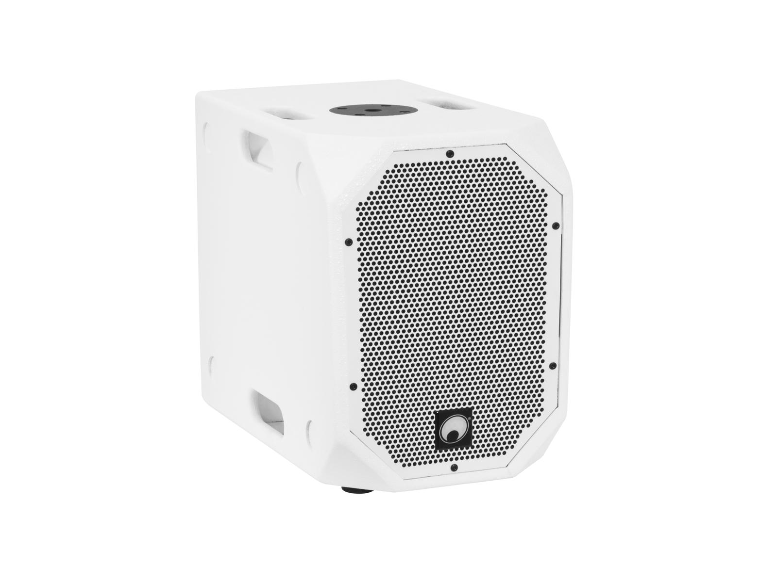 """Omnitronic BOB-10A DSP 10"""" subwoofer, 900W, Bluetooth, bílý"""