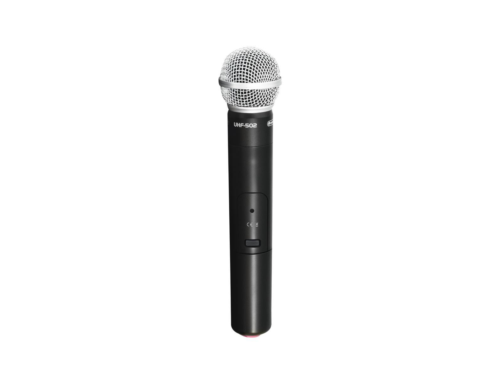 Omnitronic UHF-502, ruční bezdrátový mikrofon 863-865MHz (CH A, če