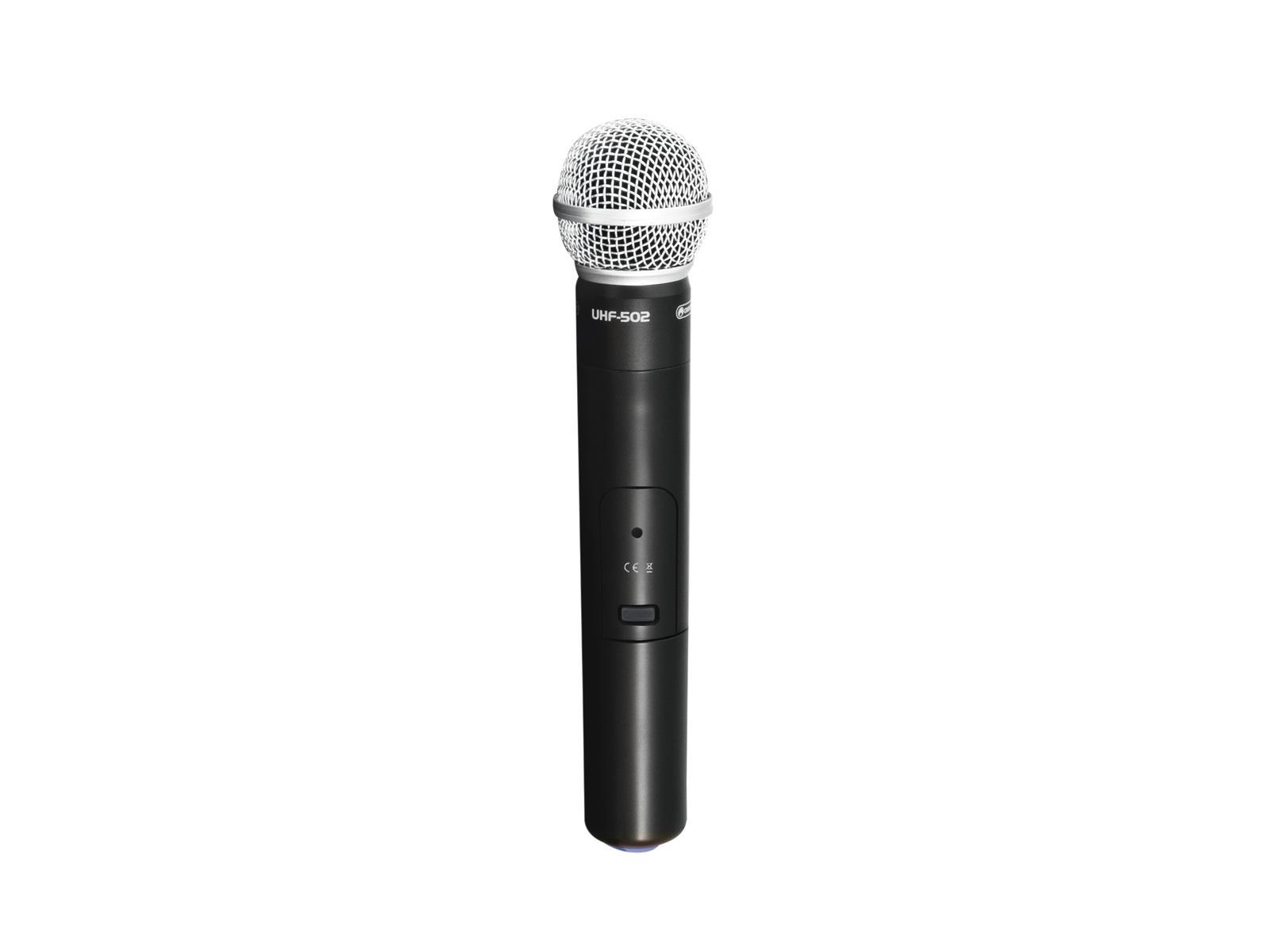 Omnitronic UHF-502, ruční bezdrátový mikrofon 863-865MHz (CH B, mo