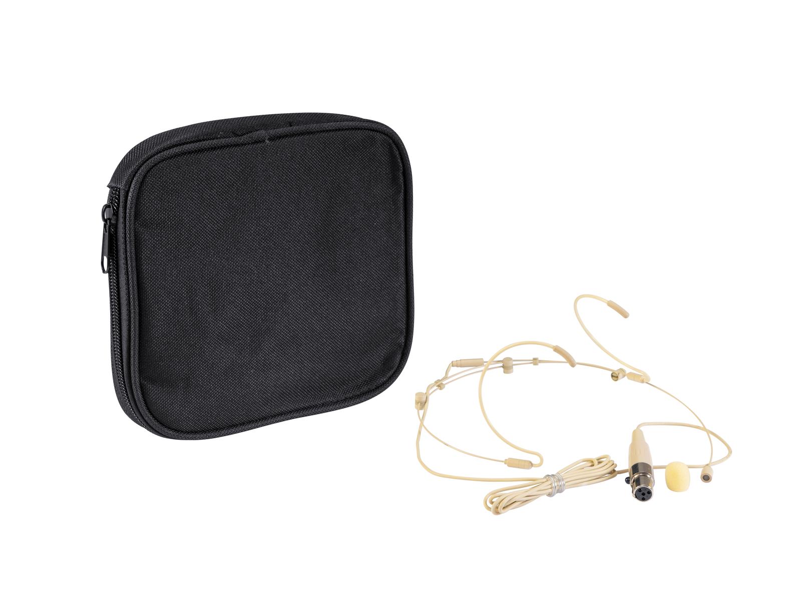 Relacart HM-800S, kapesní vysílač a náhlavní mikrofon