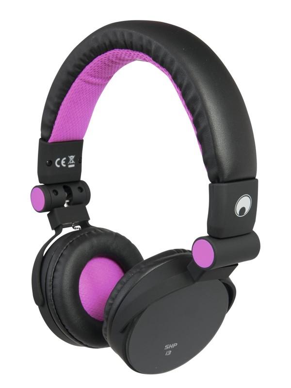 Omnitronic SHP-i3 Stereo sluchátka, růžová