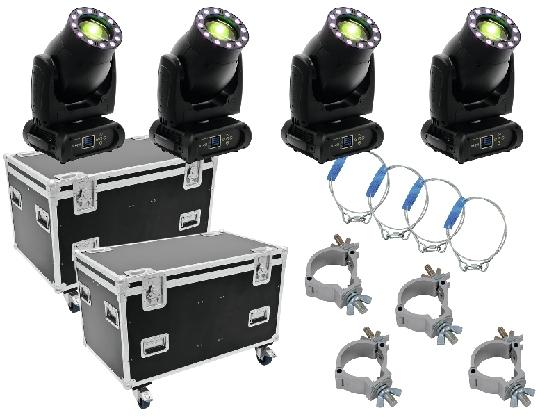 Futurelight Set 4x PLB-230 + Flightcase