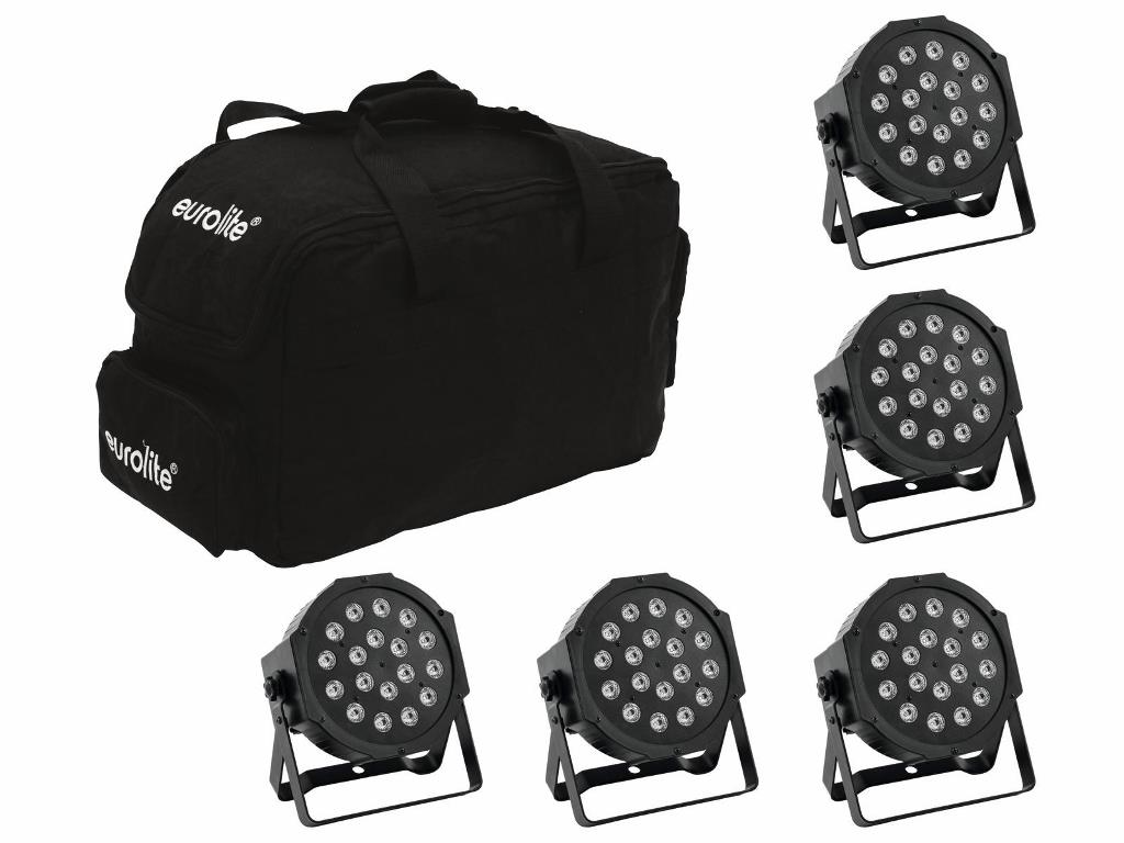 Eurolite Set 5x LED SLS-180 + Softbag