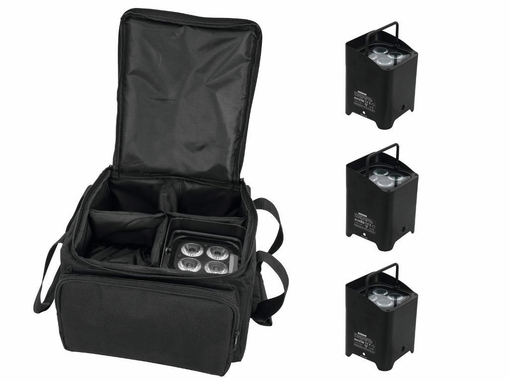 Eurolite Set 4x AKKU UP-4 QCL Spot + SB-4 Soft-Bag
