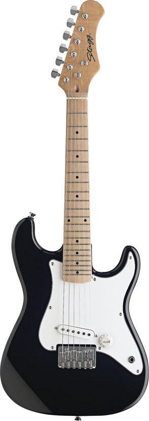 Stagg J200-BK, elektrická kytara, černá, pro děti