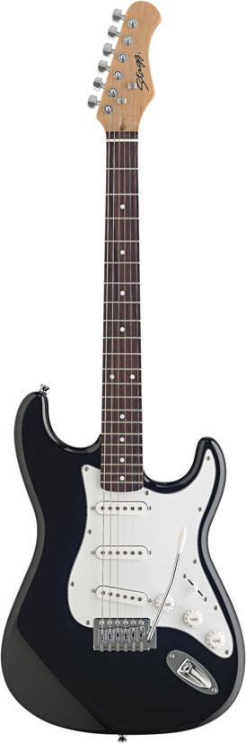 Stagg S300-BK, elektrická kytara, černá