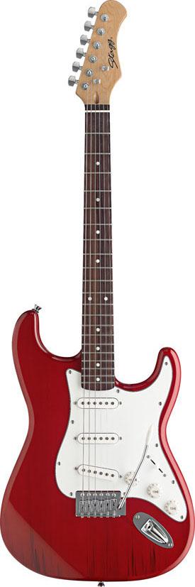 Stagg S300-TR, elektrická kytara, červená