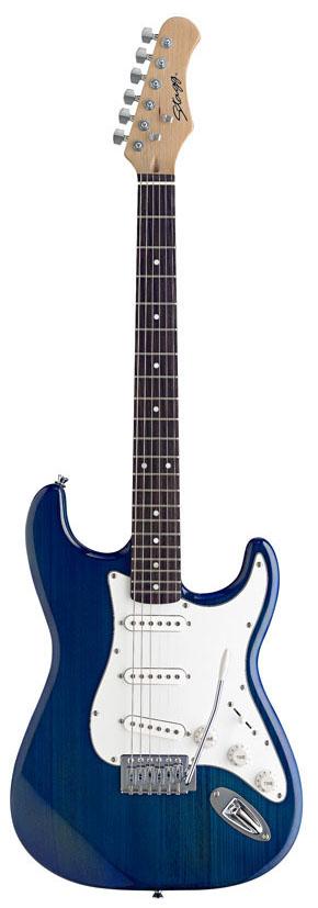 Stagg S300-TB, elektrická kytara, modrá