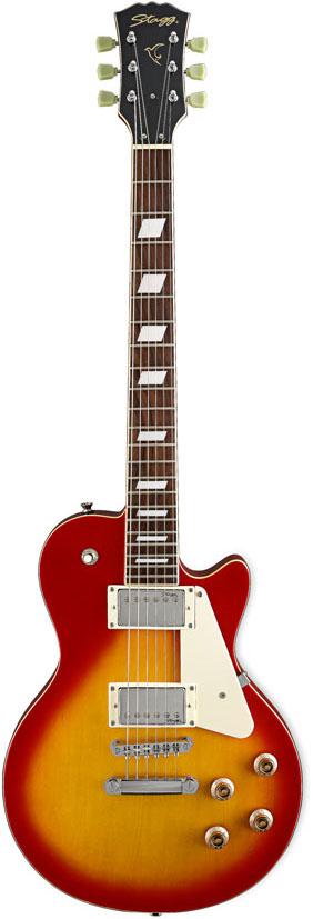 Stagg L320-CS, elektrická kytara, stínovaná Cherry