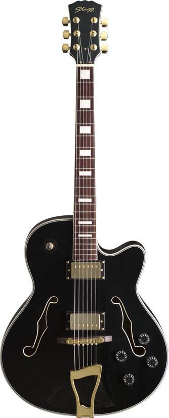 Stagg A300-BK, kytara semiakustická, černá