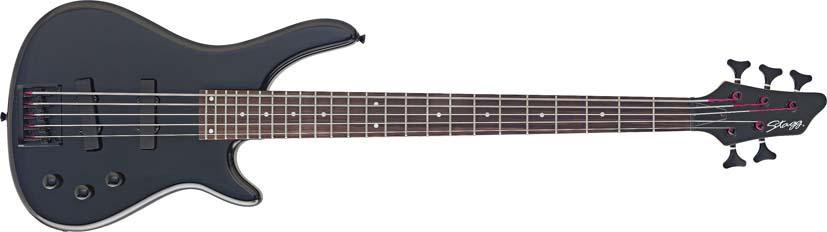Stagg BC300/5-BK, elektrická baskytara pětistrunná, černá