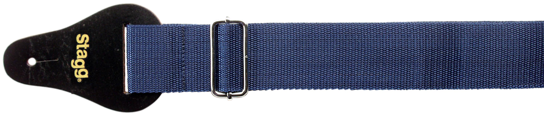 Stagg BJA006BL, kytarový popruh, modrý
