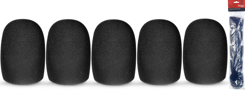 Stagg WS-S49/B5, kryty mikrofonní černé, sada 5 ks