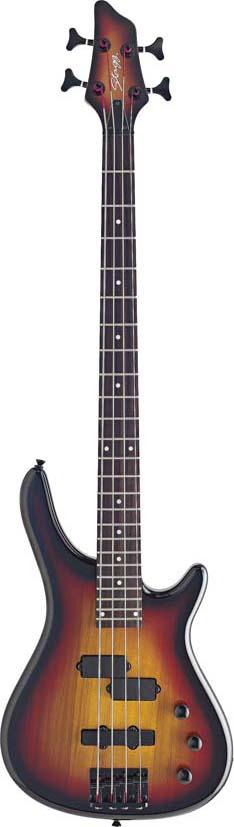 Stagg BC300-SB, elektrická baskytara, stínovaná