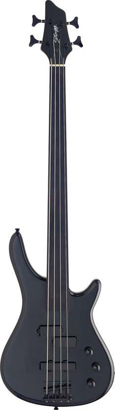 Stagg BC300FL-BK, elektrická baskytara bezpražcová, černá
