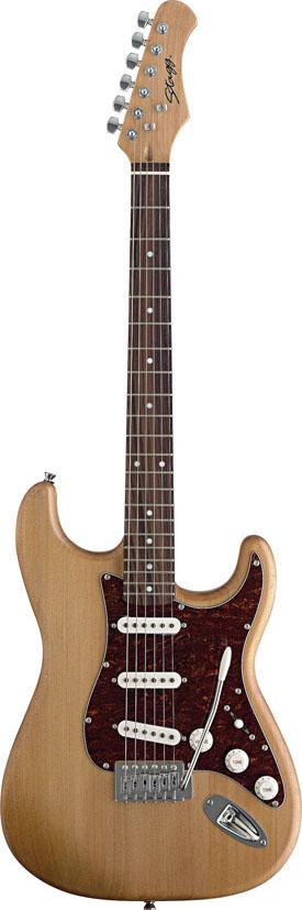 Stagg S300-NS, elektrická kytara, přírodní