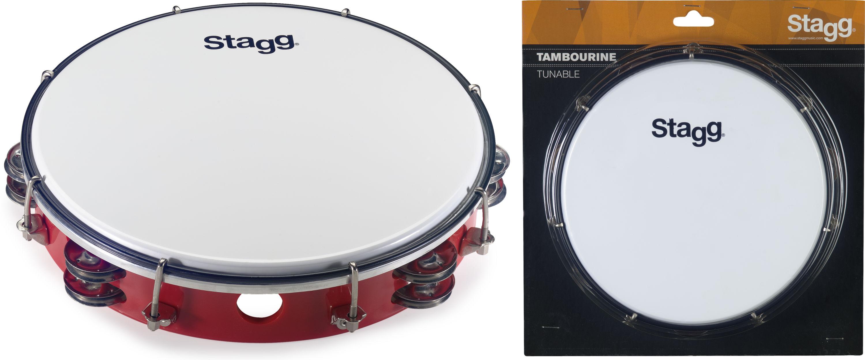 Stagg TAB-210P/RD, dvouřadá laditelná tamburína, 10