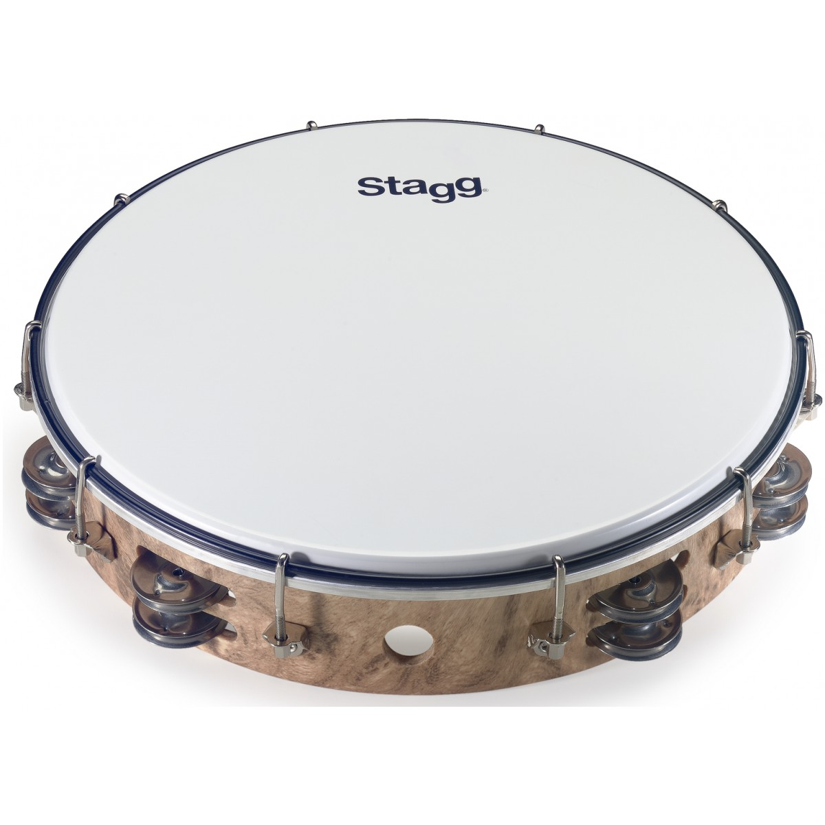 Stagg TAB-212P/WD, dvouřadá laditelná tamburína, 12
