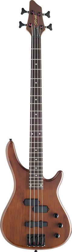 Stagg BC300-WS, elektrická baskytara, ořech