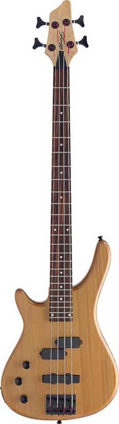 Stagg BC300LH-N, elektrická baskytara levoruká, přírodní