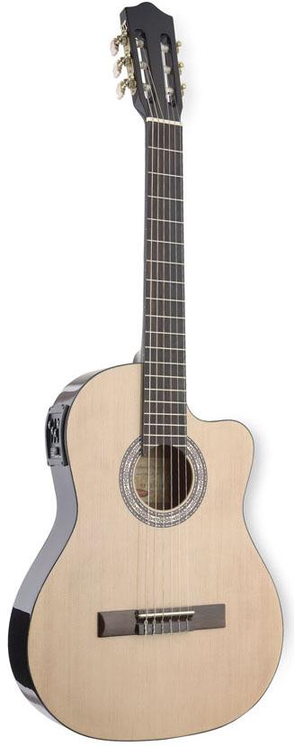 Stagg C546TCE-N, elektroakustická klasická kytara, přírodní