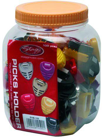 Stagg PHB-100 zásobník na trsátka (pět barev), balení 100 ks