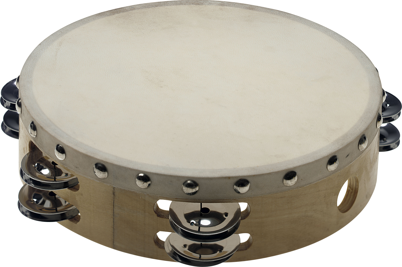 Stagg STA-1208, dvouřadá tamburína s blánou, 8