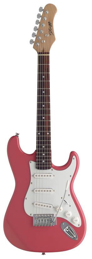 Stagg S300 3/4 PK, elektrická kytara 3/4, růžová