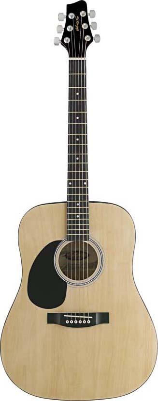 Stagg SW201LH-N, akustická kytara levoruká, přírodní