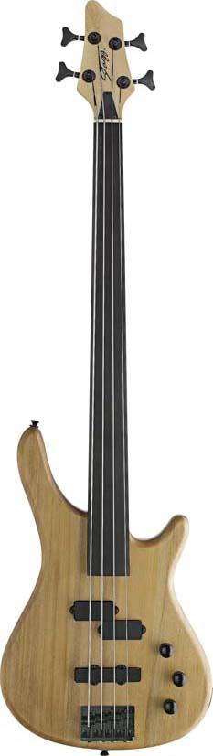 Stagg BC300FL-NS, elektrická baskytara bezpražcová, přírodní