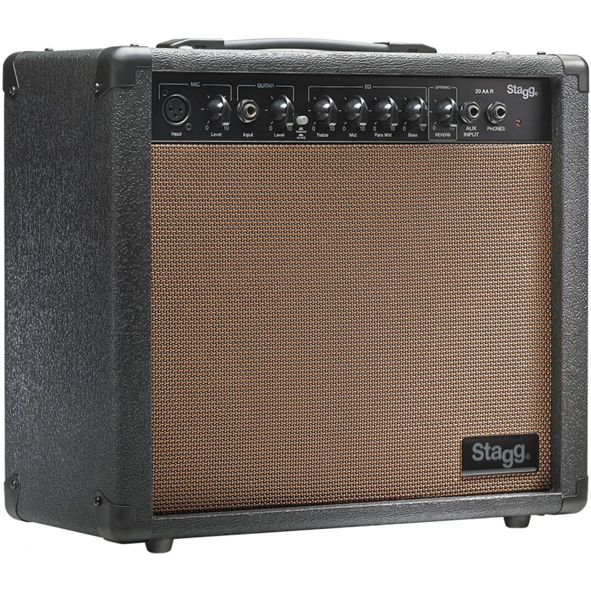 Stagg 20 AA R, kombo pro el. akustickou kytaru, 20W
