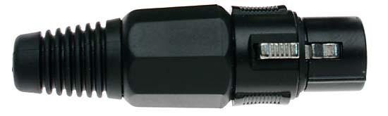 Stagg 925BKH samice XLR, černá