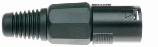 Stagg 926BKH samec XLR, černý